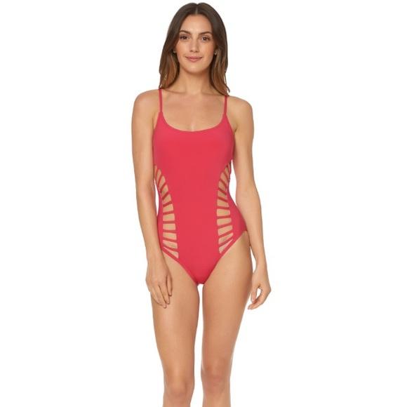 79a9668436 Red Carter Swim | Splice Dice Side Cut 1 Piece Suit | Poshmark